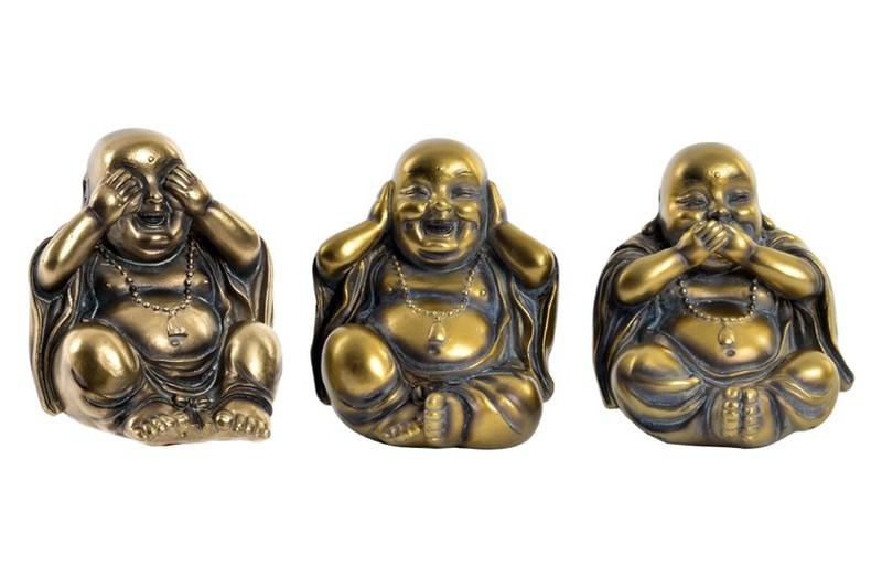 Budas Ver Oir Y Callar Dorados Dbambu